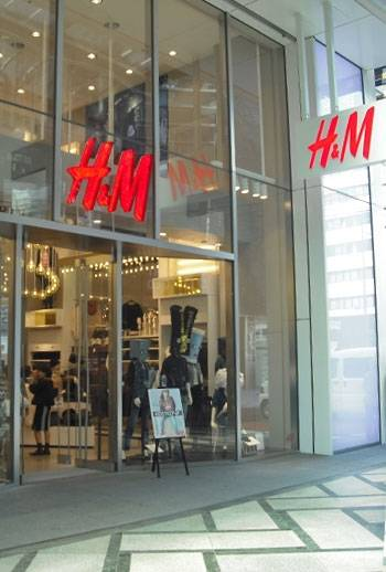 『H&M心斎橋店』