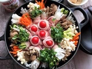 蒸す前も美しい鍋
