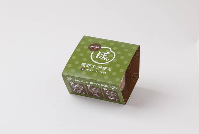 おつまみぽん 発芽玄米ぽん オリーブバジル味 - ぽん菓子・シリアルの通販におすすめ「家田製菓」 (66115)