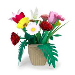 季節のお花|春・夏のペーパークラフト|KIRIN KIDS|キリン (101078)