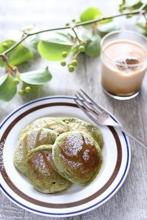 楽天レシピ:ふわふわ~お抹茶パンケーキ♪ (101277)