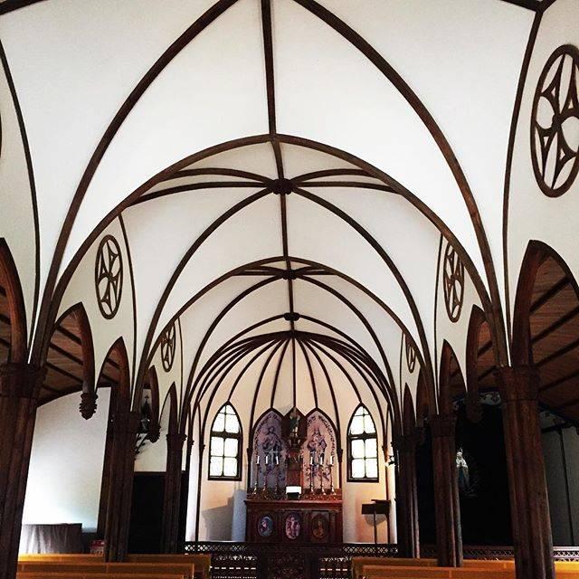 フォトジェニック 大明寺聖パウロ教会堂 コウモリ天井
