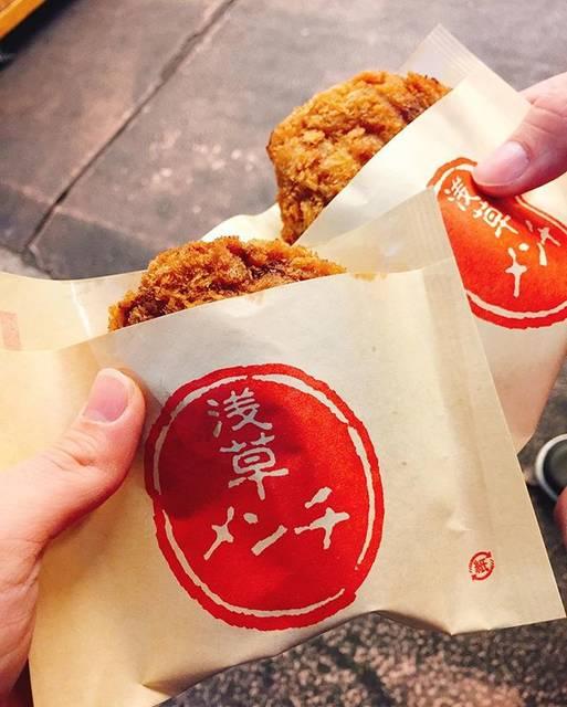 浅草食べ歩き『浅草メンチ 』