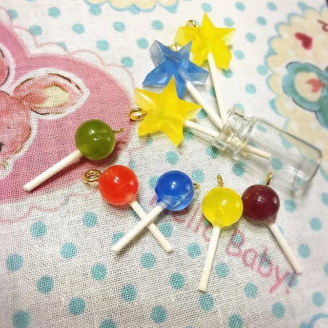夢かわいい棒付きキャンディーロリポップの作り方とみんなの作品