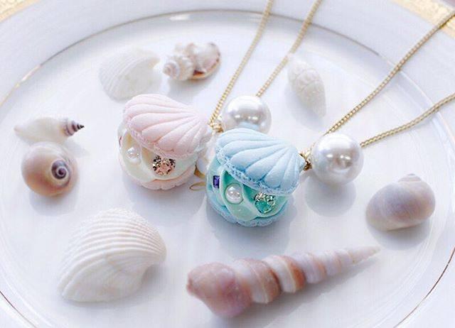 貝殻をモチーフにしたマカロン🐚