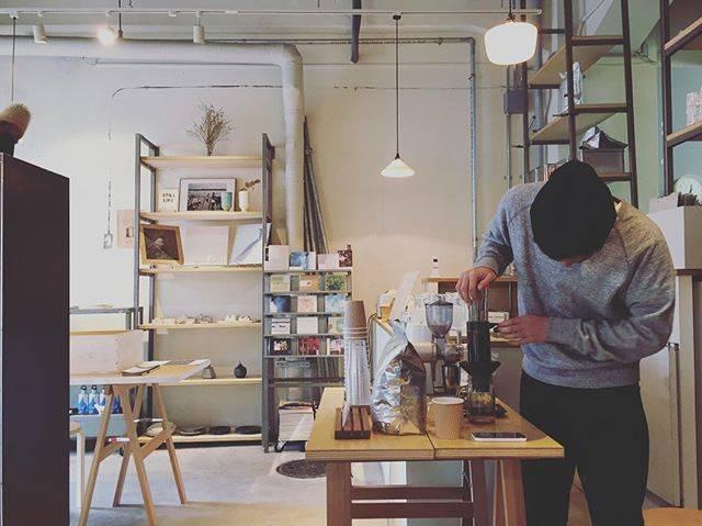 そして本日は+coffee popupstand @p...