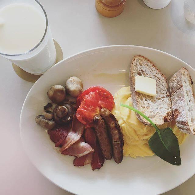 世界一の朝食!!スクランブルエッグとマッシュルーム❤️