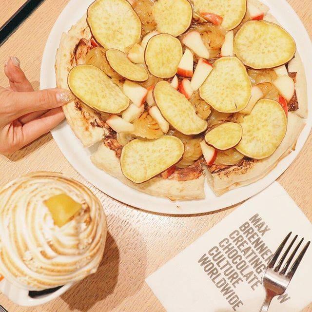 「スイートポテトアップルピザ」
