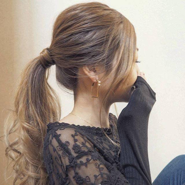 揺れ感を出しつつさっぱりした髪型にもできますよ~☆
