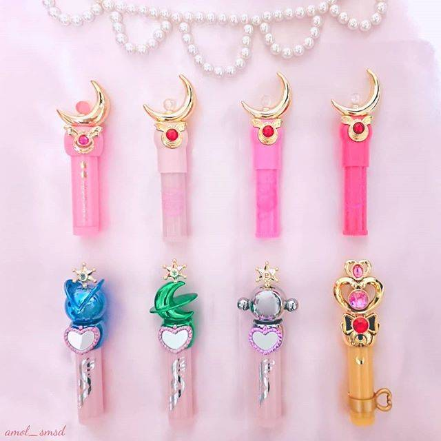 "Y u r i on Instagram: ""リップクリーム☪#sailormoon #bandai #creerbeaute #lipstick #lipsticks #moonstick #miracleromance #collection  #kawaii #セーラームーン #リップ #リップクリーム"" (51276)"