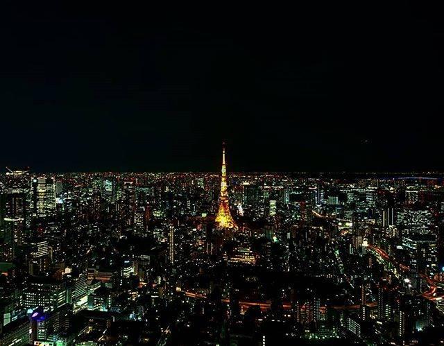 東京タワーを望むきれいな夜景も♥