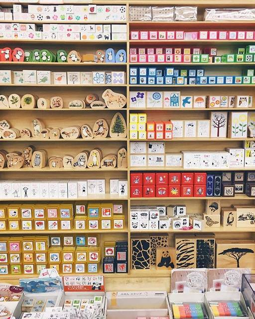 "Sticky Kit 🌸 Stickers + Washi on Instagram: ""Wall of stamps in another favorite stationery store in Tokyo. Not shown here but there were also lots of dog stamps for card making (since…"" (53617)"