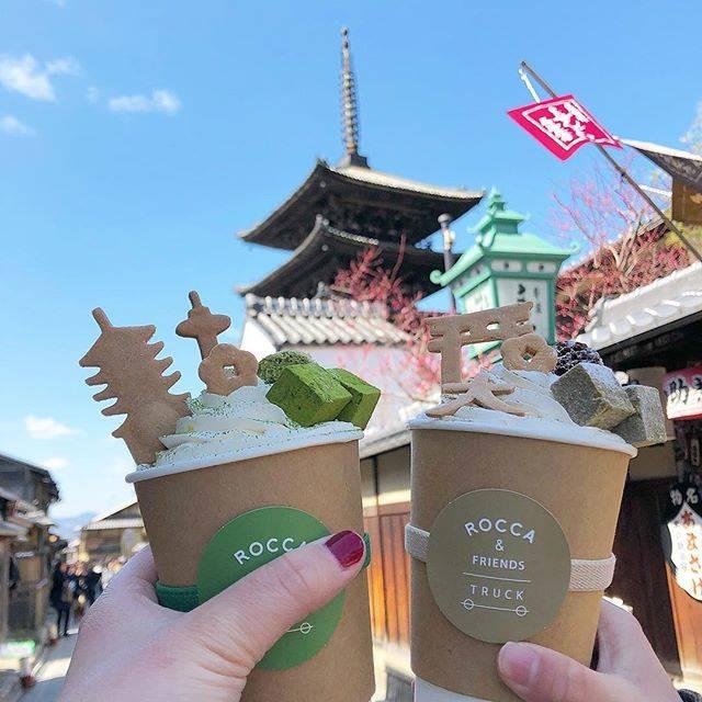 """みゆ on Instagram: """"ㅤ ROCCA&FRIENDS TRUCK  DESSERT MACHA LATTE  DESSERT HOUJI-CHA LATTE 可愛いラテでした😋 #京都 #京都旅行 #roccaandfriendstruck #latte #instafood #yum…"""" (55445)"""