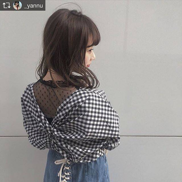 "WEGO on Instagram: ""WEGO STAFF STYLE  #Repost @_yannu  with @get_repost  @wego_official のブラウス ❤︎ .#Repost @_yannu  with @get_repost .ギンガムチェックとかシルエット…"" (55909)"
