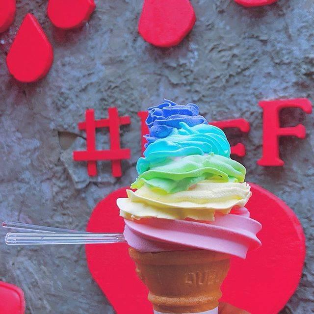 """ふじはらだいき on Instagram: """"原宿でレインボーソフトクリーム#原宿 #竹下通り #レインボーソフトクリーム"""" (57869)"""