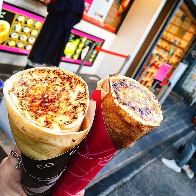"""Mai on Instagram: """"1年ぶりのコムクレープ😍❤️ 定番のクレープブリュレとクリームチーズブリュレ🧀✨ クリームチーズ美味しかったーーー🤤💖 すでにまた行きたい🤭 これ食べるためだけに原宿まで行ってきた🚃笑…"""" (58471)"""
