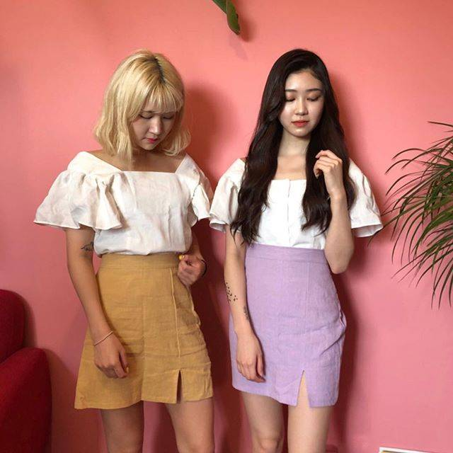 """NOPEOPLE SEOUL on Instagram: """"女の子らしいお揃いコーデに👯5月21日 18:00から販売開始です❣️"""" (60063)"""