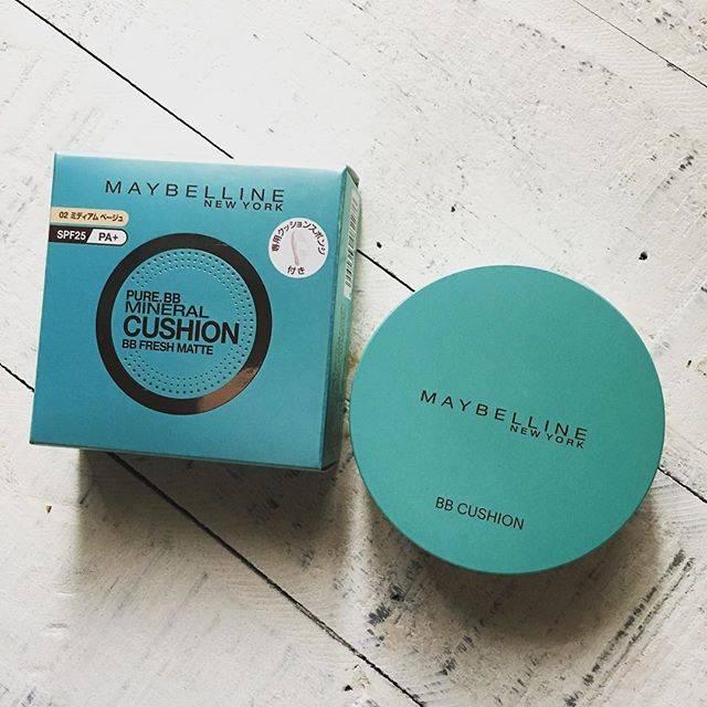 """m&k❁❀✿✾ on Instagram: """"・ ・ 前に買ってすごく調子よかったので次はmatteを買ってみた♩ コンパクトのカラーも私好みで仕上がり良かったらこっちリピしようかな😅 ・ ・ #メイベリン #クッションファンデ #ピュアミネラルbb #ファンデ  #maybelline…"""" (64062)"""