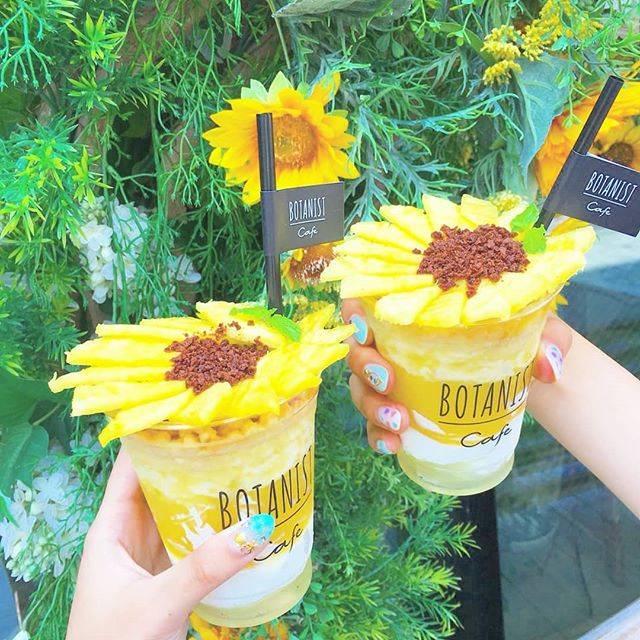 """葉と花 (はとは) on Instagram: """"#ボタニストカフェ #原宿  ひまわり可愛すぎた💗 ・ 花びらは#パイナップル で真ん中は#チョコパウダー  がかかってるよ🌻 ・ 店内も良い香りがして#インスタ映え !って感じだった!笑 #おすすめカフェ  #botanistcafe #向日葵 ¥1000 ・…"""" (65132)"""