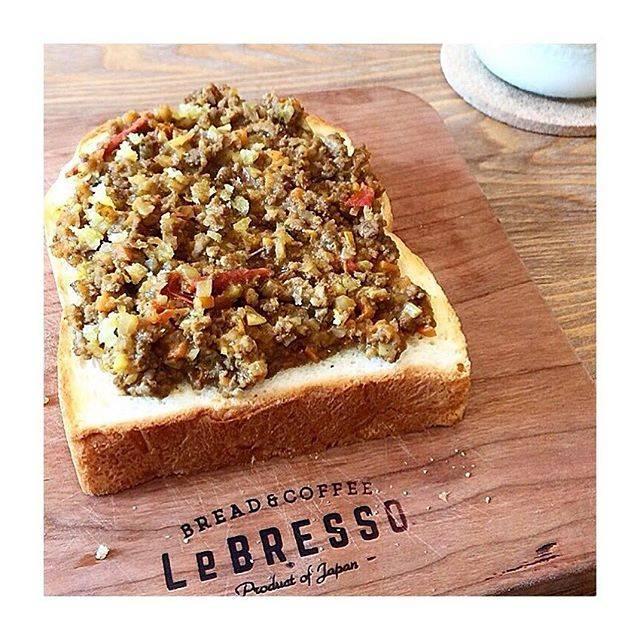 """naoha☆ on Instagram: """"* * 2018.9☆武蔵小山 * 行ってみたかったお店 『LeBRESSO』食パン専門店🍞 秋野菜のキーマカレートースト パンもほんのり甘くてキーマカレーも美味しかった♡甘い系のパンもあるから今度はそっち食べたいな😋 * #レブレッソ目黒武蔵小山店#レブレッソ…"""" (66830)"""