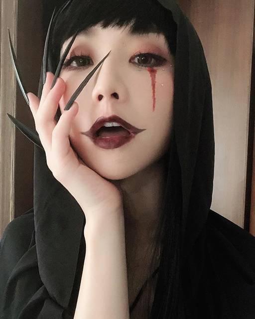 "Akina CHOIKAPO 蔡嘉寶 on Instagram: ""👻 Halloween is coming 👻 本週新片預告 : 是萬聖節🎃的我要又靚又性感靚女嘅化妝分享😗💕"" (68430)"