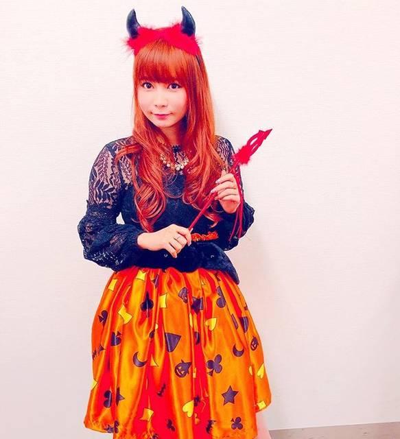 """中川翔子 on Instagram: """"ハロウィンということもあり、今日はしょこデビルで新曲リリースキャンペーン^_^#しょこたん #中川翔子 #ハロウィン #helloween #デビル"""" (68795)"""