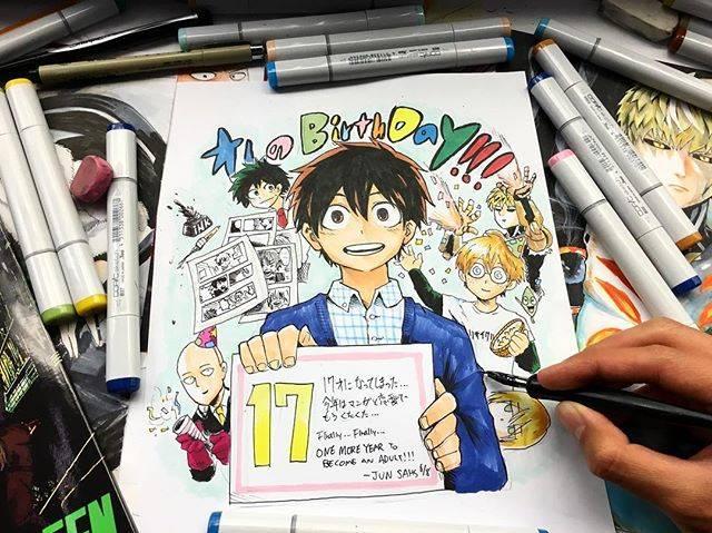 """Inagawa Jun® on Instagram: """"17歳になりました! いやあ。。実感湧かないな笑 17歳は多分青春やバカできる最後の歳だと思っています。。18はもう社会人ですからね(震) 16歳の1年色んな事があって、色んな事を知りました。漫画家という夢。。決して簡単な世界ではないという事。。…"""" (69094)"""