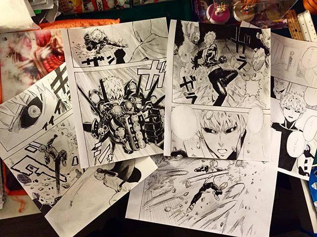 "Inagawa Jun® on Instagram: ""だんだんストーリーが出来てきたw ワンパンマン18話丸々描いてます!あと6ページほどで完成!( д) 頑張ります!Practice practice practice!! #ワンパンマン #村田雄介 #漫画家志望 #漫画 #onepunchman #manga #anime"" (69096)"