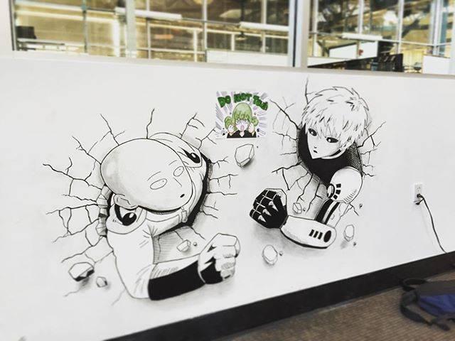 """Inagawa Jun® on Instagram: """"100%完成!発表会楽しかった!! 自分にお疲れ様!#ワンパンマン#サイタマ#ジェノス#壁絵"""" (69103)"""