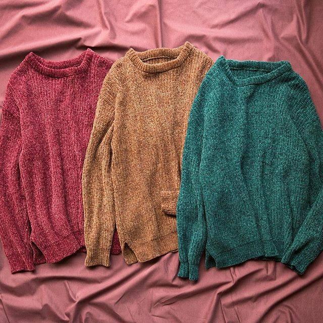 "WEGO on Instagram: ""✔︎velour mall knit¥2,990+tax#wego#ウィゴー#unisex#ユニセックス#fashion#velor#knit"" (70709)"