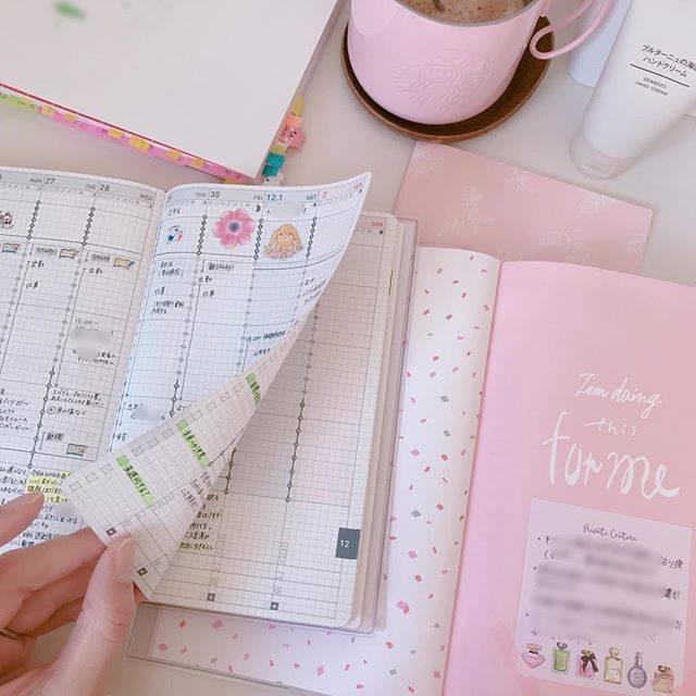 """❁Carrie❁ on Instagram: """"・ 今朝はドルチェグストで チョコチーノ淹れました。💗 冷える朝に、甘いチョコチーノ☺️ 美味しくて幸せです😍 年末なので、いろんな目標を見直し中🤔 スタディプランナーのページ途中にある ピンクの可愛いページに目標を書いてます。 開くだけで気分上がる(๑˃̵ᴗ˂̵)…"""" (70935)"""