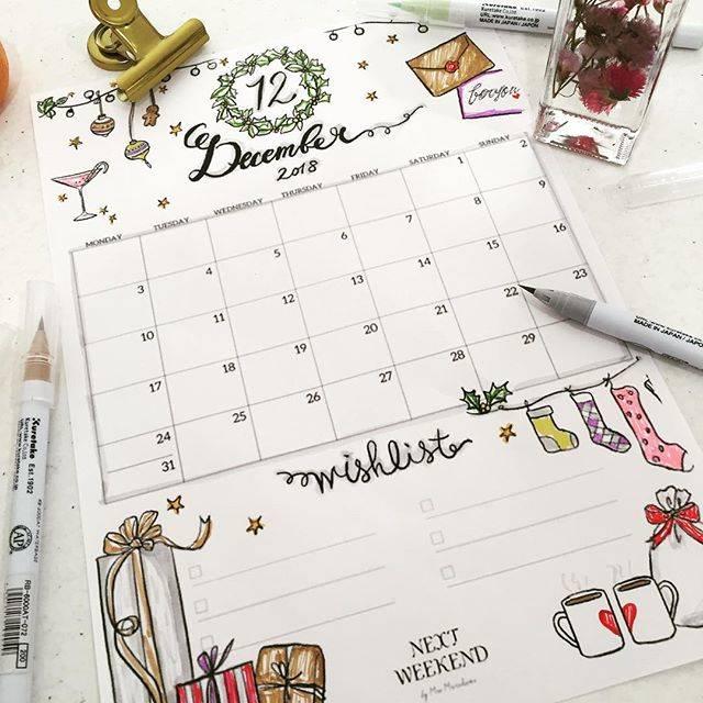"""- eriko - on Instagram: """"朝から美味しいクロワッサン🥐を食べてルンルン♪ お腹が満たされた後は、@nextweekend_jp  さんの無料カレンダーをプリントして塗り絵をしてみました✨ 今回は色鉛筆ではなくて、水性ペンでチャレンジ! 色が濃く出てしまうので、グレーをベースに塗り塗り♪…"""" (70936)"""