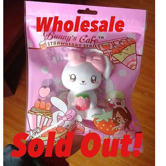 "Sana on Instagram: ""Sweet Bunny holding strawberry 🍓 sold out for the wholesale ❤️ coming out very soon! #squishyshop #squishythailand #squishyindonesia…"" (71440)"
