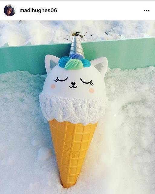 "Sana on Instagram: ""Wow! Candicorn ice cream 🍦 on the snow ❄️ @madihughes06"" (71441)"
