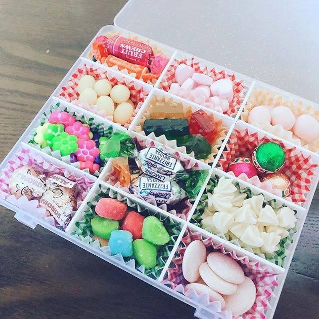 """あすみ on Instagram: """"お菓子パレット作ってみた(*´ω`*)#お菓子パレット"""" (71899)"""