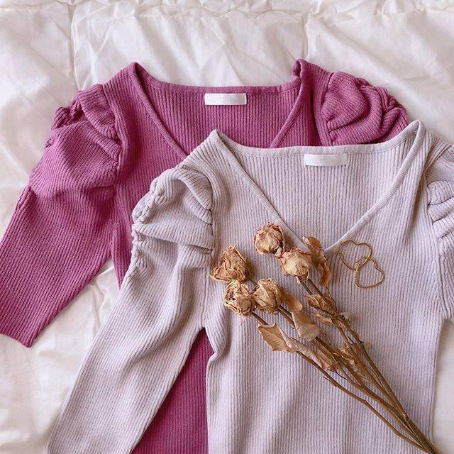 "Sayaka on Instagram: ""この袖がすきで2タイプ購入♡♡♡着るの楽しみ🥀#パワーショルダー #ボリューム袖 #お気に入り #置き画くら部 #MIIA #fav"" (72102)"