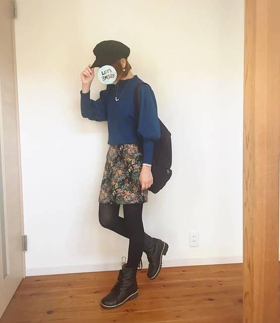 """ゆりあのこあら on Instagram: """"昨日の歯医者、治療中にあまりに緊張して異常なまでの唾液の分泌(OωO ) 自分の唾液で溺れてむせる(OωO )  勇気を出してゴブラン織りのスカート買いました♡カーテンとか応接間の絨毯とか言われてますが、そう言われたいが為に履いてる事も、無きにしも非ず。  #gu #guコーデ…"""" (72247)"""