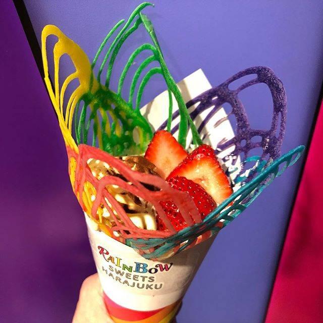 "♡hiromi♡ on Instagram: ""フォトジェニックスイーツ☺️✨💞 🌈🌈🌈🌈🌈🌈🌈🌈🌈🌈🌈🌈🌈🌈🌈 🌈 (人´∀、`〃)。o○(オイチイ♪) ✩ #レインボークレープ #レインボースイーツ #クレープ #スイーツ #sweets  #レインボースイーツハラジュク  #rainbowsweetsharajuku…"" (73372)"
