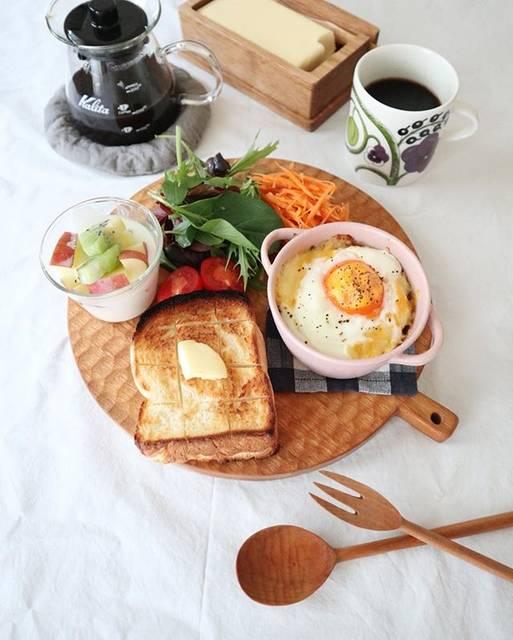 "@muracco3210 on Instagram: ""2019.02.14 #朝ごはん 。 . . #朝食#おうちごはん#朝時間#おうちカフェ #パン#パン好き#クッキングラム #ワンプレート #breakfast#instafood#foodpic #igfood#52grams#onthetable…"" (75078)"