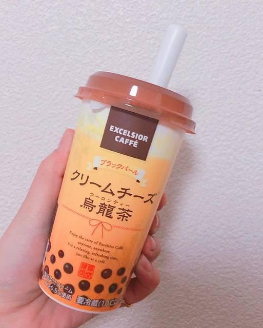 "🅚🅐🅝🅐🅣🅐 on Instagram: ""❁EXCELSIOR COFFE ・*:.。 。.:*クリームチーズ烏龍茶 ・*:.。 。.:* ¥198-(税込)  🏠おうちタピオカ②  超小粒ゼリーのような食感でした!! …"" (75198)"