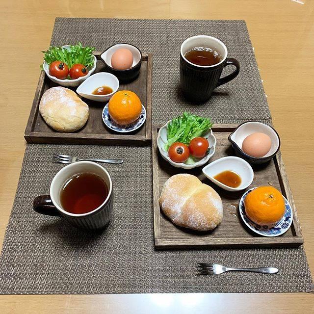 """@shinochan07 on Instagram: """"今朝の朝食🍴は、 🌸白パン 🌸ゆで玉子 🌸ミニサラダ 🌸コーヒー 🌸みかん(買った物)を作りました💖 昨日、レッスンで習った白パンふわふわで美味しかったです😋 形成が難しかったので、復習しなきゃです😆…"""" (75222)"""