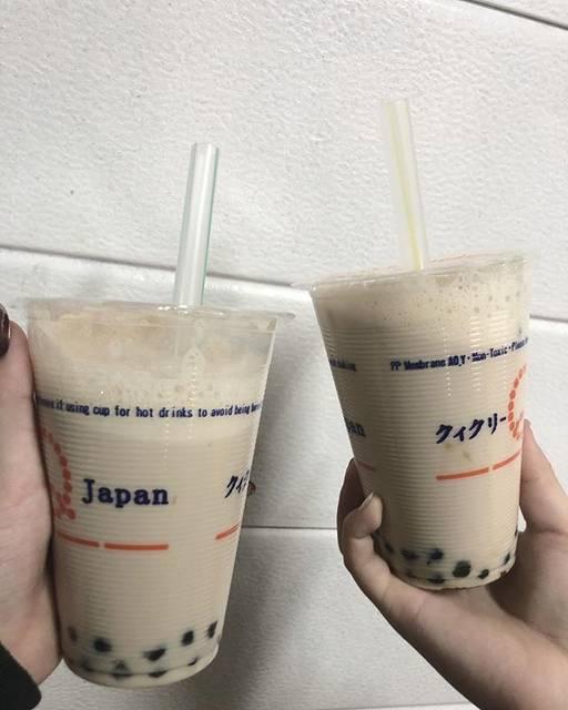 "ЯK_720 on Instagram: ""たぴれた~#クィクリー #ピーチミルクティー"" (76146)"