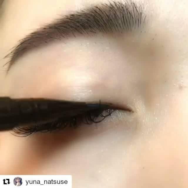 "Ichan Mulyono on Instagram: ""#Repost @yuna_natsuse (@get_repost) ・・・ アイライナー動画💄💚 《 #ゆうなメイク 》 ・ ・ 今日はキャットライン(跳ね上げライン)✨ 中々角度とかが難しいかもですが、1番簡単な引き方❤…"" (76423)"