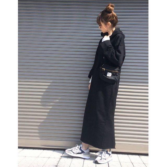 """STYLEBAR on Instagram: """"Thank you ♫ #Repost @chikaa25 ・・・ ︎☺︎♥ 楽ちんスウェットワンピ😊 ・ @stylebar.jp  スウェットワンピは ラインすっきり着れるし、 あたしの身長でも 長さもあるからお気に入り💓 ・ んで、 ワンピ下にもいつもの…"""" (76604)"""