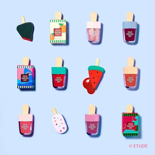 "ETUDE HOUSE Taiwan on Instagram: ""是否該來支果汁冰棒降溫一下了...🍉🍊🍑❄️#icepop #liptint #summer #冰棒還是唇釉傻傻分不清 #納涼消暑去 #冰棒店即將開張"" (79469)"