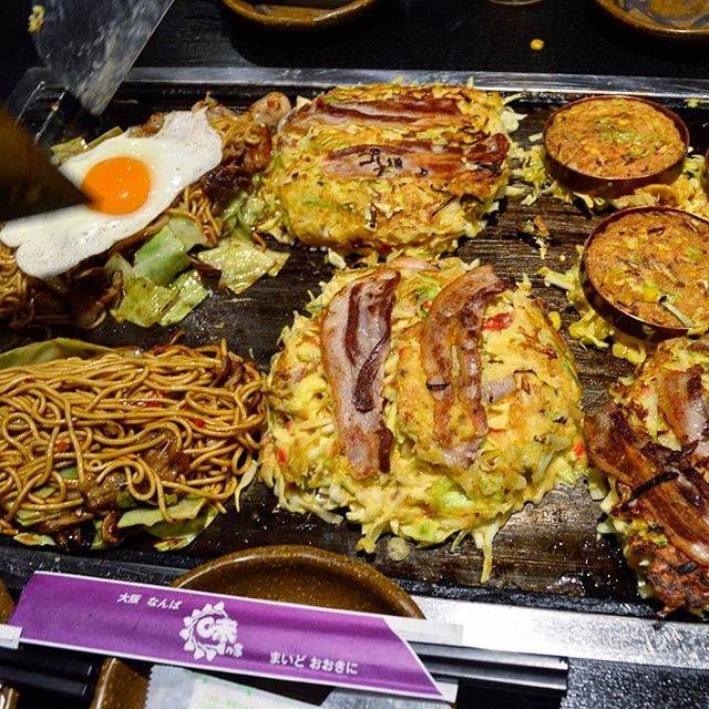 "Foodetc on Instagram: ""Osaka okonomiyaki for dinner. Sort of a fusion between a pizza and a pancake. Cabbage, pork, scallions and batter. Fried on both sides and…"" (80161)"