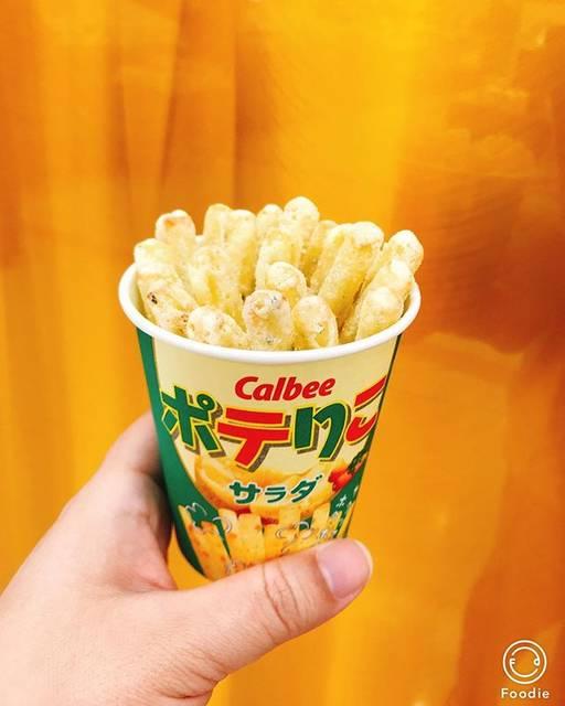 """ストロベリー on Instagram: """"今日のおやつ  #calbee  #カルビー #カルビープラス Calbeeplus  #food #ぽてりこ #ポテりこ  PoteRiko サラダ味 Salad taste 揚げたて Just fried #美味しい #yummy 😄#foodporn 📸…"""" (80191)"""