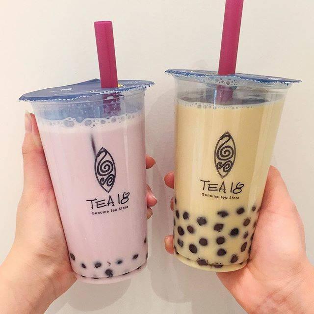 "haruka𓃵 on Instagram: ""『#tea18 』 >>>>#梅田・お店イチオシの紫芋ラテと鉄観音ミルクティー💜・開店してからもう5回くらいは行ってる😶😶💝・・・・#タピオカ#タピオカ巡り#梅田カフェ#いいね返し"" (80487)"