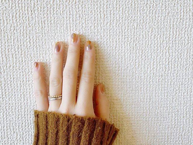"""kanaco on Instagram: """"⁂nail..たまにはこんなのもあり。..#ちょんちょんネイル #ポリッシュネイル #マニキュア #セルフネイル"""" (80892)"""