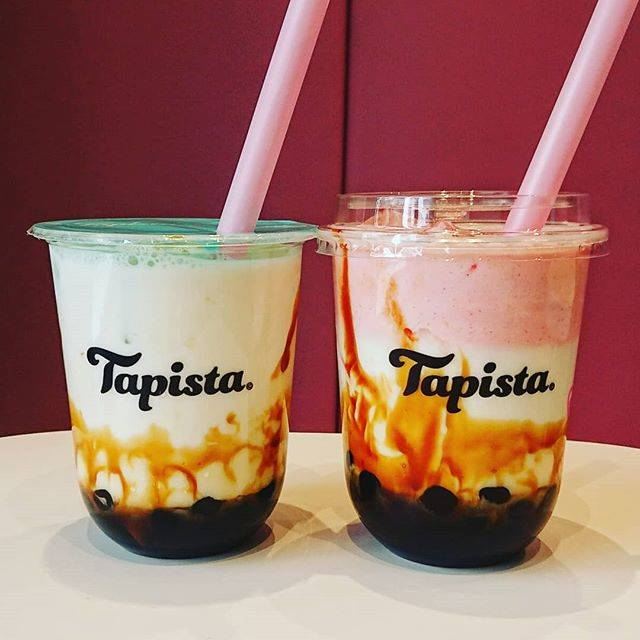 """tapiottiyhmn on Instagram: """"tapista  厳選黒蜜ミルク¥470トッピング黒糖タピオカ¥80 厳選黒蜜ミルク¥470トッピング黒糖タピオカ¥80ストロベリーミルクフォーム¥80  タピオカ大粒もちもち。 黒蜜ミルクかなり甘々ですが、後引く甘さ。 牛乳とも良くあって美味しい!…"""" (82009)"""